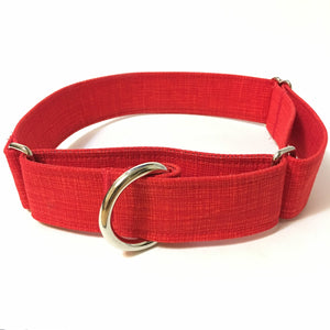 Firetruck Red Martingale Collar - N.G. Collars