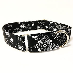 Johnny Cash Martingale Collar - Small - N.G. Collars