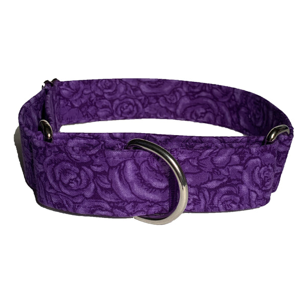 Roses are Purple Martingale Collar - N.G. Collars