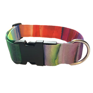 Rainbow Wash Buckle Collar - N.G. Collars
