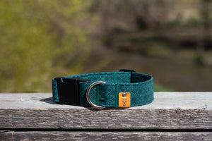 Royal Green Buckle Collar