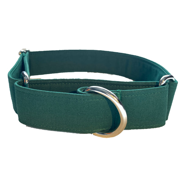 Hunter Green Martingale Collar - N.G. Collars