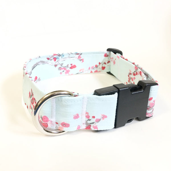 Cherry Blossom Buckle Collar - N.G. Collars