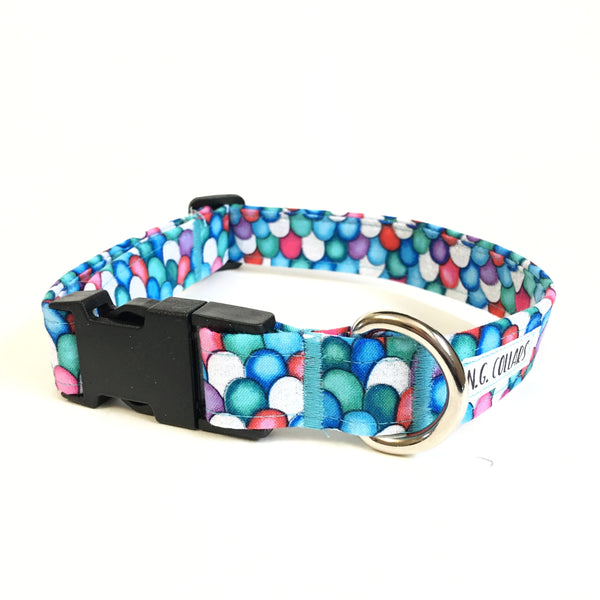 Rainbow Fish Buckle Collar - N.G. Collars