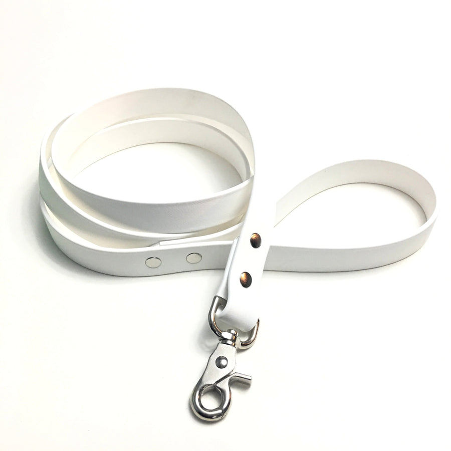 White Proof Leash - N.G. Collars