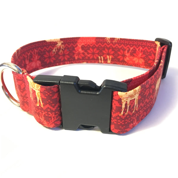 Reindeer Buckle Collar - Large - N.G. Collars