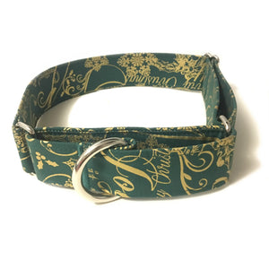 Seasons Greetings Martingale Collar - N.G. Collars