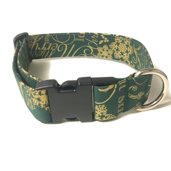 Seasons Greetings Buckle Collar - N.G. Collars