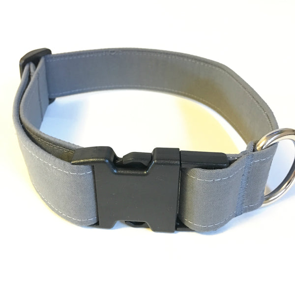 One Shade of Grey Buckle Collar - N.G. Collars