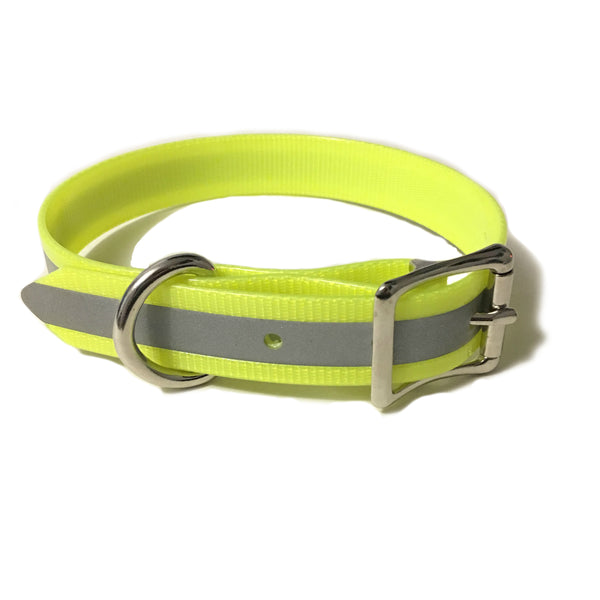 Yellow Reflective Proof Collar - N.G. Collars