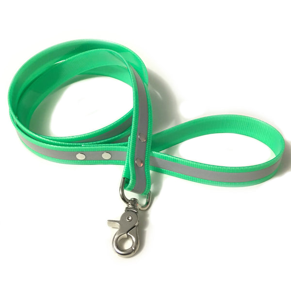 Green Reflective Proof Leash - N.G. Collars
