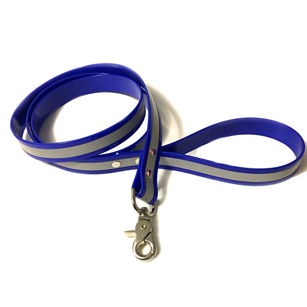 Blue Reflective Proof Leash - N.G. Collars