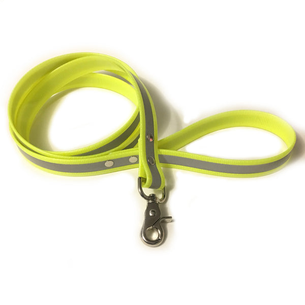 Yellow Reflective Proof Leash - N.G. Collars