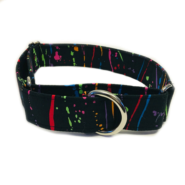 Paint Splatter Martingale Collar - N.G. Collars
