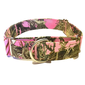 Pink Camo Martingale Collar - N.G. Collars