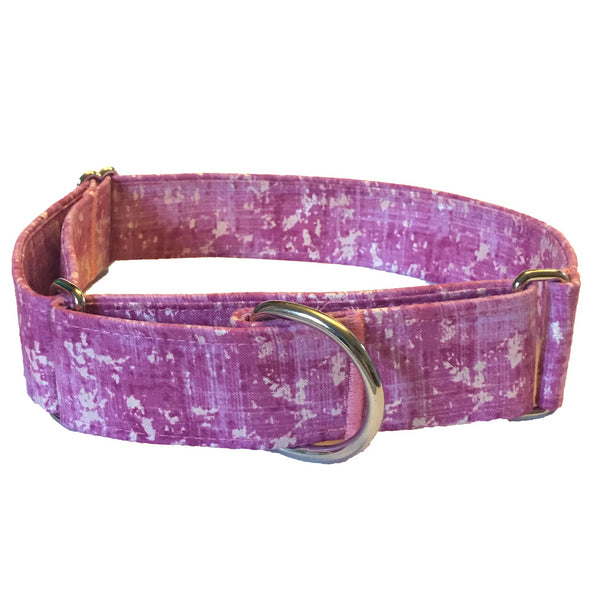 Rose Quartz Martingale Collar - N.G. Collars