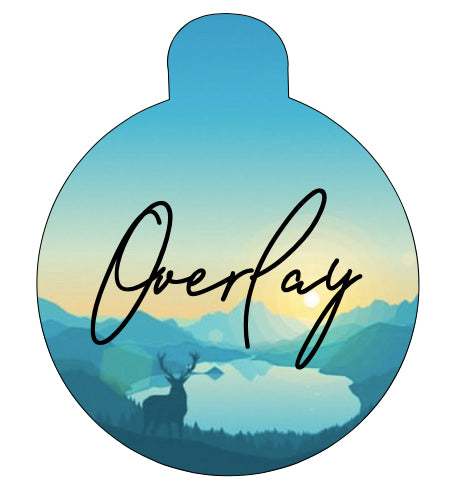 Sunrise Tree Line Pet Tag