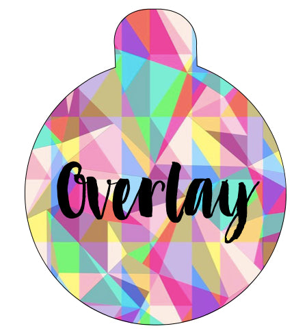 Pink Geometric Pet Tag