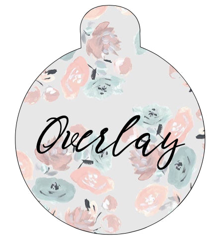 Light Floral Pet Tag