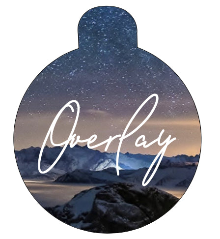 Starry Sky Winter Landscape Pet Tag