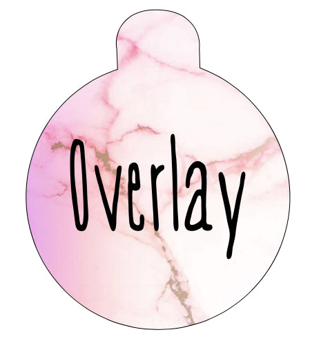 Pink Marble Pet Tag