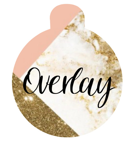 Pink and Gold Marble Pet Tag