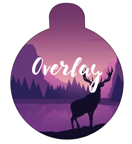 Purple Silhouette Landscape Pet Tag