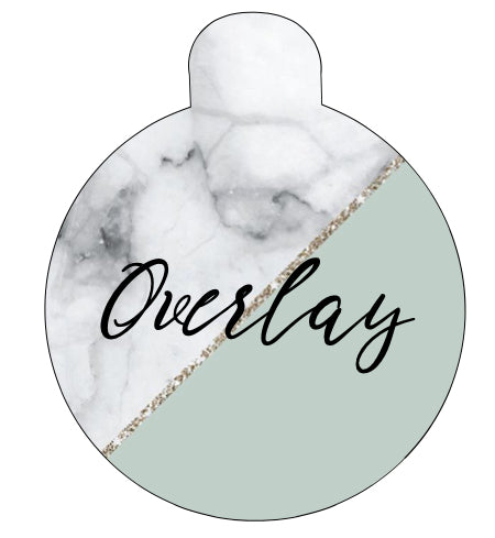 Custom Marble Split Pet Tag