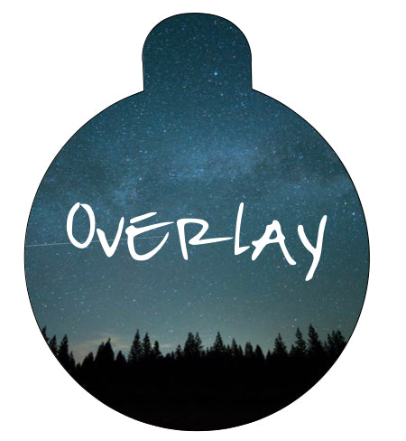 Midnight Tree Line Pet Tag