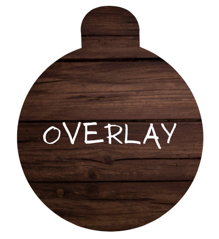 Wood Grain Pet Tag