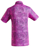 Pink golf shirt for men
