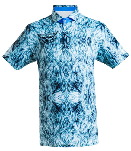 Patterned golf shirt for men