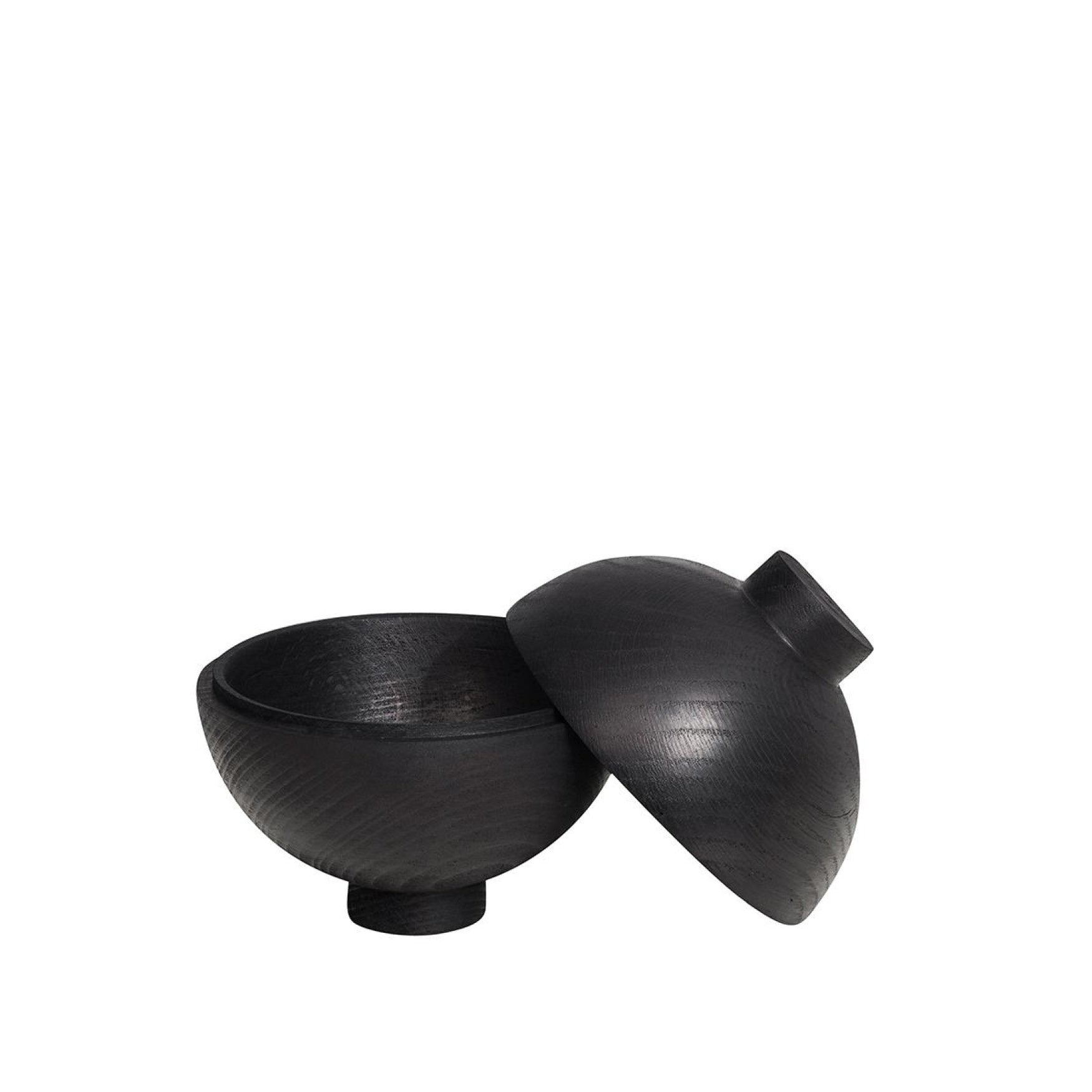 XL Wooden Sphere Black