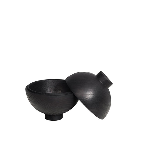 Wooden Sphere Black
