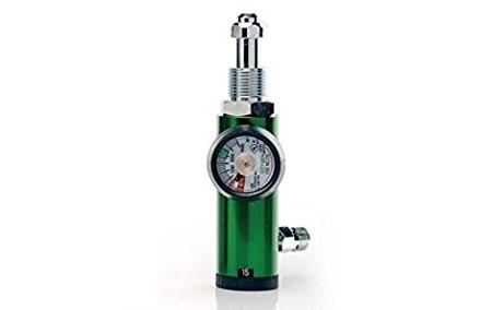 OXYGEN REGULATOR WITH HUMIDIFIER BOTTLE AND SPANNER SUITABLE FOR B TYPE AND D TYPE CYLINDERS