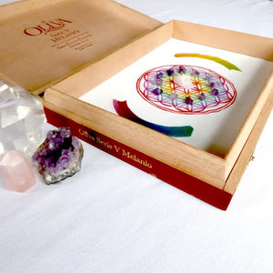 Fertility Goddess Crystal Energy Grid Kit and Gift Set