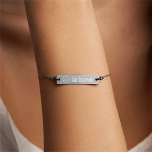 """La Lune"" Engraved Bar Chain Bracelet for the Moonchild"