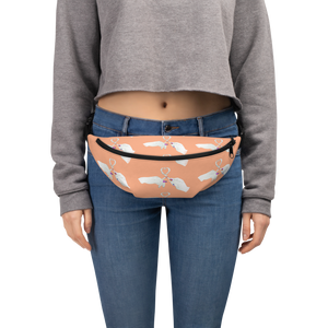 Heart Toast Waist Pack / Fanny Pack in Sherbert • Art in Collaboration with Shake & Baked, Calgary, Canada