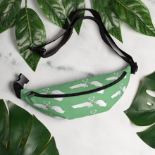 Heart Toast Waist Pack / Fanny Pack in Green • Art in Collaboration with Shake & Baked, Calgary, Canada