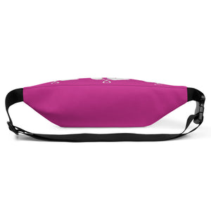 Heart Toast Waist Pack / Fanny Pack in Fuscia • Art in Collaboration with Shake & Baked, Calgary, Canada