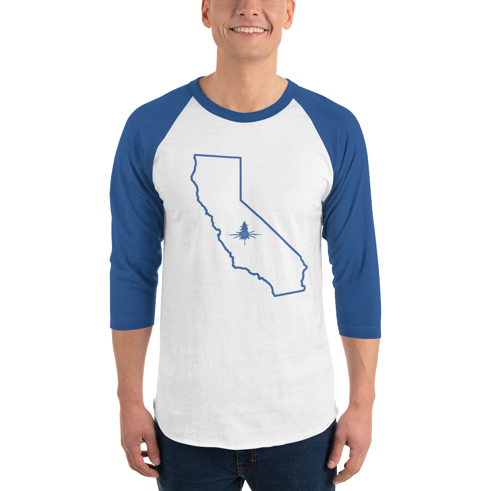 70's Style T for Cali Lovers With 3/4 Length Sleeves