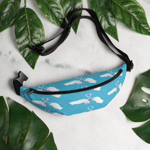 Heart Toast Waist Pack / Fanny Pack in Blue • Art in Collaboration with Shake & Baked, Calgary, Canada