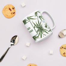 "Botanical Mug with ""Sacred Medicine"" Message - Great Gift Under $25"