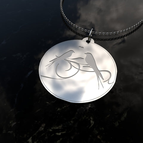 Birds Singing - Sterling Silver Necklace