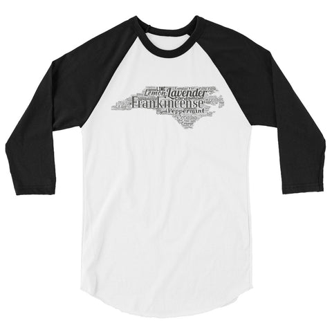 North Carolina 3/4 sleeve raglan shirt
