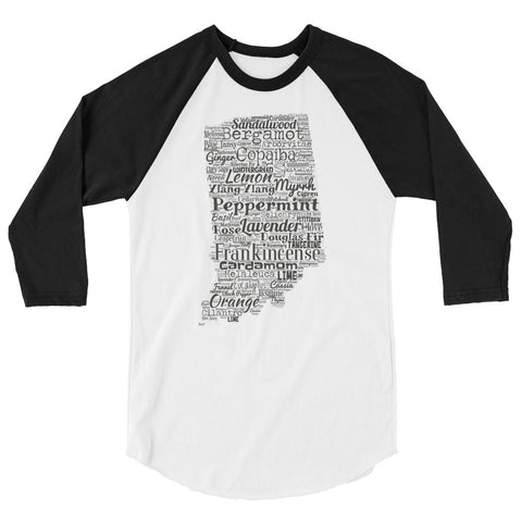 Indiana 3/4 sleeve raglan shirt