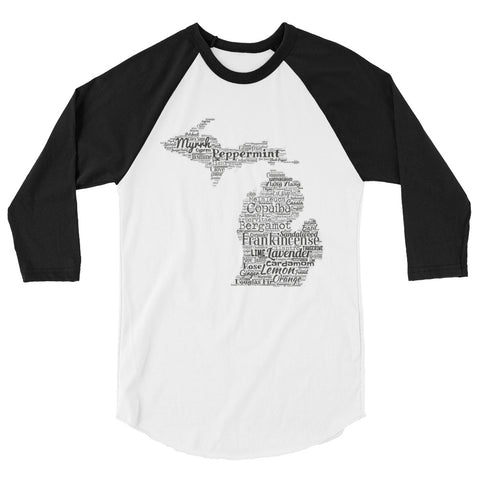 Michigan 3/4 sleeve raglan shirt