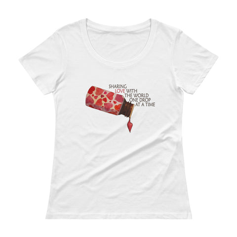 Sharing Love... Ladies' Scoopneck T-Shirt