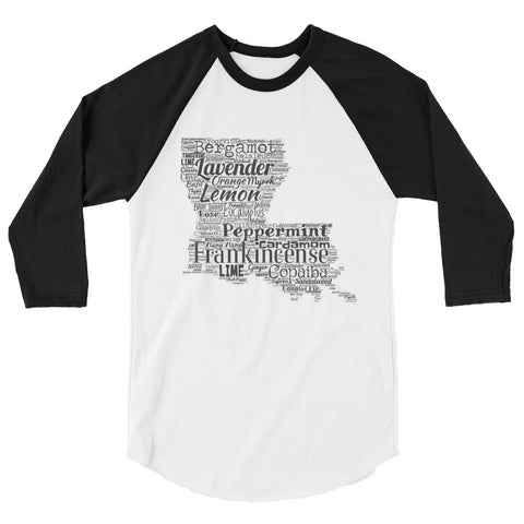 Louisiana 3/4 sleeve raglan shirt