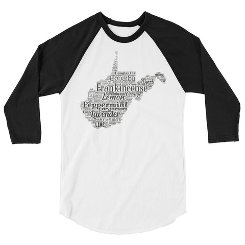 West Virginia 3/4 sleeve raglan shirt
